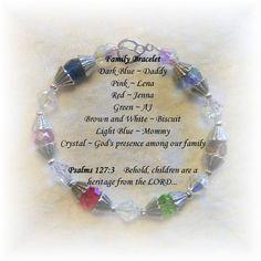 Family Mother Grandmother Birthstone Bracelet by GlimmerOfBeauty