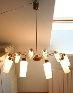 VINTAGE + CHIC:Gran lámpara de comedor años 50 · Ref 626 · Midcentury modern chandelier