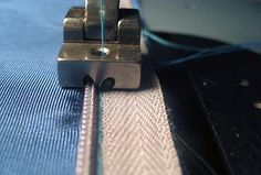 How to sew invisible zippers