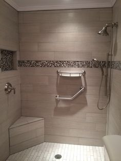 Our tile showers other tile projects on pinterest for 9x12 bathroom designs