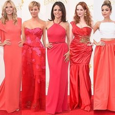 Red on the red. #Emmys