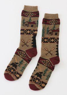 Cute winter socks.