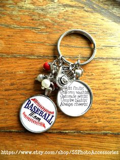 Sports mom key chain Baseball Mom or by SSPhotoAccessories on Etsy, $12.00