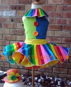 costumes, birthday parties, tutu dresses, circus birthday, clown dress