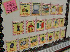 Classroom Jobs - bilingual