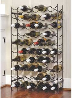 "This Alexander 60 Bottle Wine Rack is $99.00.    This 60-bottle Cellar Rack mounts to wall for stability. Folds flat for shipping.     39.5""H x 22.5""W x 8""D"