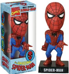 The Amazing Spider-Man Wacky Wobbler is posed  to sling his web at any enemy that dares approach. (650 points)