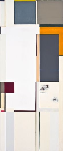 Joan Waltemath Fourth corso 2007-2009 oil on panel 37 x 15 9/16 inches