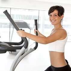 Love it or hate it, a major plus to sweating it out on the elliptical is that you can work your body in a variety of ways using this machine. Pedaling forward works your quads, while going backward targets the hamstrings and booty. Pushing the handles