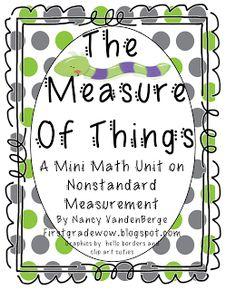 First Grade Wow: Inchworm Measurement