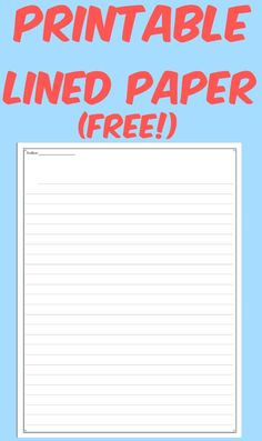 (FREE) This printable paper is great for whenever you are ready to publish any of the fantastic writing that you have been working on class and would like something a little snazzier than just plain notebook paper.  There is also a nice blank area at the top for students to add a fancy title of their choosing.
