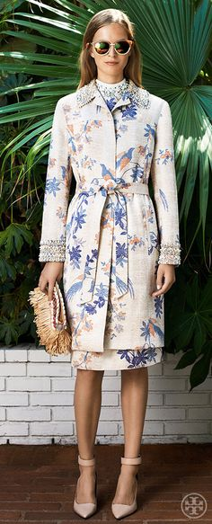 Invest in a coat-and-dress set in a matching print — so unexpected | Tory Burch Resort 2014