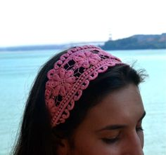 Coral Lace Headband