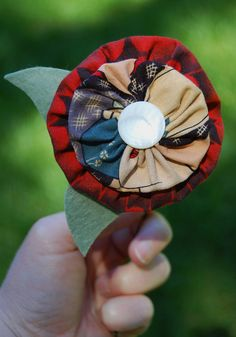Make a yo-yo flower!