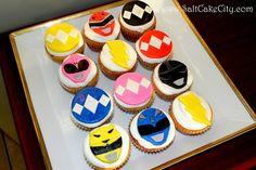 more power rangers cupcakes