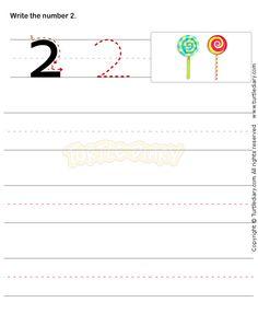 Number Writing Worksheet 2 - math Worksheets - preschool Worksheets