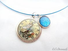 Alice clock charm #necklace, #fairytale #jewelry | celdeconail - Jewelry on ArtFire