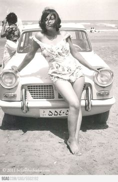 Not so long ago... Iranian woman, 1960, before the Islamic Revolution.