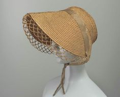Braided Straw Hat with Open-Work Edging, Early 1800s.