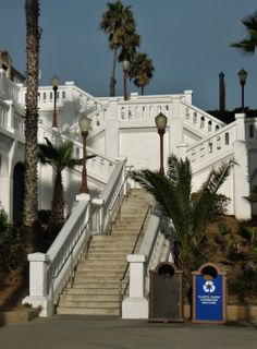 Stairway the the pier.  Oceanside, California.  Photography by David E. Nelson