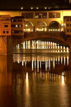 Ponte Vecchio by night, Florence Italy