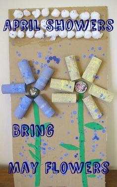 April Showers Bring May Flowers Bulletin Board Idea