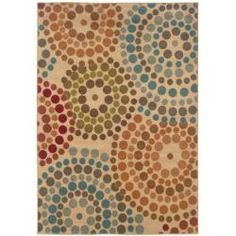 @Overstock - Machine-woven of durable polypropylene, this rug features a stunning abstract pattern. Rich hues of green, red, blue and orange complete this beige floor rug.http://www.overstock.com/Home-Garden/Biege-Abstract-Rug-710-x-10/5543436/product.html?CID=214117 $240.99
