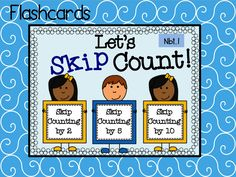 Let your students practice skip counting by 2, 5, and 10 all year long. Print, laminate, and cut these flashcards. Perfect for a math center and practicing at home!