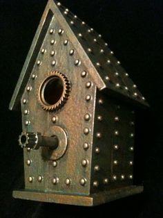 steampunk industrial birdhouse
