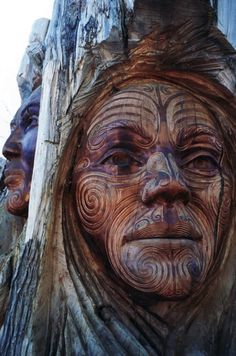 Carved Into A Tree Trunk