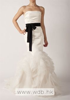 Geogerous Satin Bodice Organza Trumpet Wedding Dress