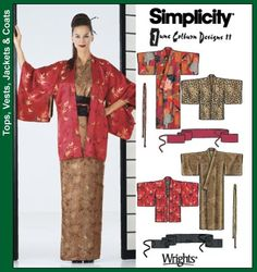 Time to make another Kimono. I used this pattern at my true size last time and it came out way too bulky. The pattern itself is good, but I'm going to make it 1 size smaller. I also suggest adding length to the sode / sleeve, so that it is a more decadent (the length of such in this pattern is the traditional length for a married woman, but I prefer the wedding or unmarried length more)