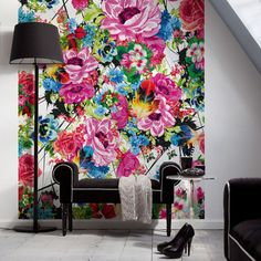 My design inspiration: Romantic Pop Wall Mural on Fab.