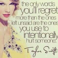 Taylor Swift Quotes Regret