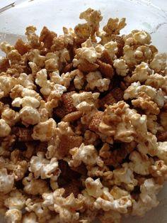 Caramel chex mix(: