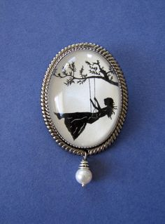 Girl on Swing Brooch - reminds me of my Cate