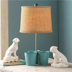 Clutter Control Bucket Desk Lamp - 5 Colors