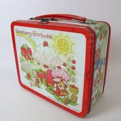 strawberry shortcake lunch box, 80s, memori, school, lunch boxes, rememb, cold lunches, lunchbox, strawberri shortcak