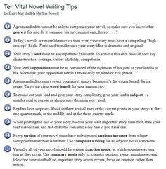 10 vital novel writing helps