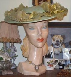 1940s mannequin display head