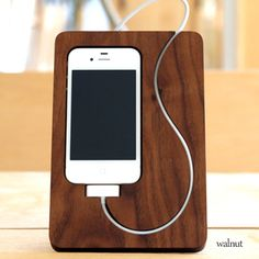 """Rakuten: [iPhone4S correspondence] support new stands """"BaseStation for iPhone4"""" Hacoa wooden iPhone case for a new lifestyle of iPhone, eyephone- Shopping Japanese products from Japan"""
