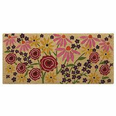 Flowers door mat