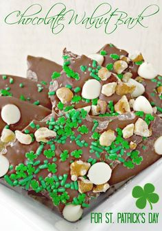 Chocolate Bark For St. Patrick's Day