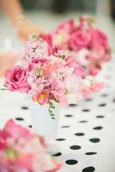 Gorgeous pink floral arrangements by