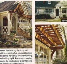 added trellis &  detailing on stoop = amazing curb appeal