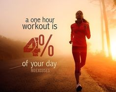 Only 4% of your day you can do it!!