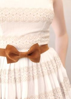 Handmade Suede Bow Belts from Darlingtonia