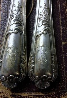 Monogrammed vintage French silver.