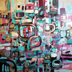 "Saatchi Online Artist: Yves-Marie Salanson; Paint, 2012, Mixed Media ""The Three Circles"""