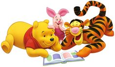 Pooh, Piglet, and Tigger